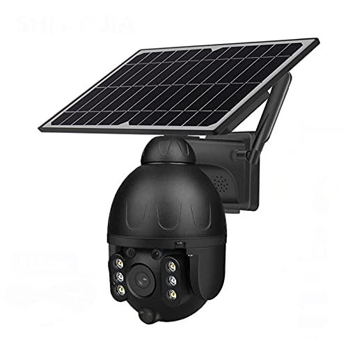 Cámara De Seguridad Solar Al Aire Libre 4G WiFi Seguridad Inalámbrica Cámara Solar Desmontable Negra Batería CCTV Video,4g