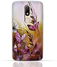 Motorola Moto M TPU Silicone Case with Butterfly Oil Paint Pattern