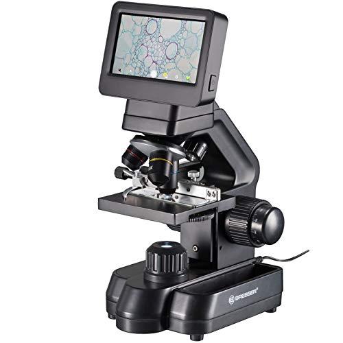 Bresser Mikroskop Biolux Touch 5 MP LCD Mikroskop für Schule und Hobby mit mechanischem Kreuztisch, HDMI, USB, SD Anschluss
