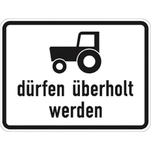 Verkeersteken VZ1049-11, motorvoertuigen en treinen tot 25 km/h mogen aluminium, RA2, 45x60cm verkeersbord