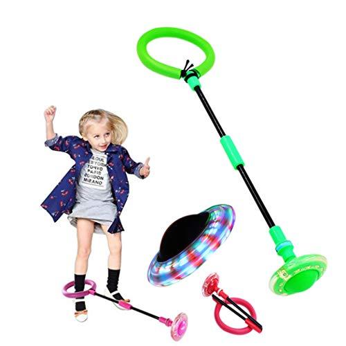 Joyibay Ball überspringen Faltbar Blinkt Jumping Ball Schaukelball Sport Spielzeug Knöchel Skip Ball für Kinder