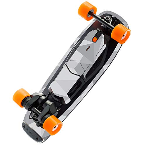 MightySkins Skin Compatible with Boosted Board Mini S - Gray Polygon | Protective, Durable, and Unique Vinyl Decal wrap Cover | Easy to Apply, Remove, and Change Styles | Made in The USA