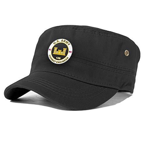 Efbcy Us Army Combat Engineer Logo Adjustable Adult Snapback Hat,Black,Standard