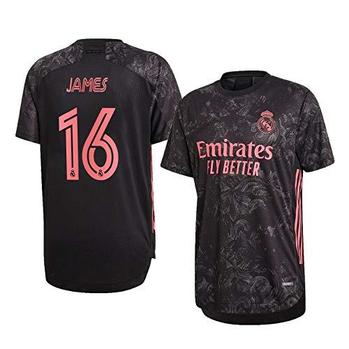 F-shop James Rodríguez Real Madrid Schwarz,Maillot James Rodríguez Trikot 2020/21 für Herren & Jungen(Schwarz,M)