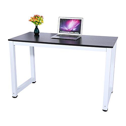 AYNEFY Mesa de escritorio para ordenador portátil, moderna mesa de oficina, escritorio de madera, mesa de juegos, mesa de oficina, escritorio para casa, oficina, 120 x 60 x 74 cm