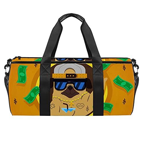 Bolsa de gimnasio para hombre y mujer, bolsa de viaje con bolsillo impermeable