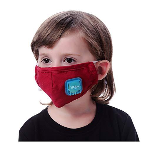 Waschbare Zufälliges Muster Mit uv Schutz Weich Sonnenschutz Verstellbar Kinder Baumwolle 3 Etagen Wein Rot S