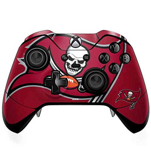 Skinit Decal Gaming Skin Compatible with Xbox One Elite Controller - Officially Licensed NFL Tampa Bay Buccaneers Large Logo Design
