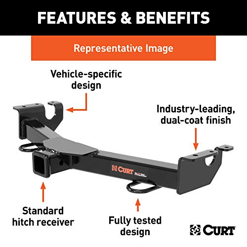 CURT 31084 2-Inch Front Receiver Hitch, Select Jeep Cherokee, Comanche, Wagoneer