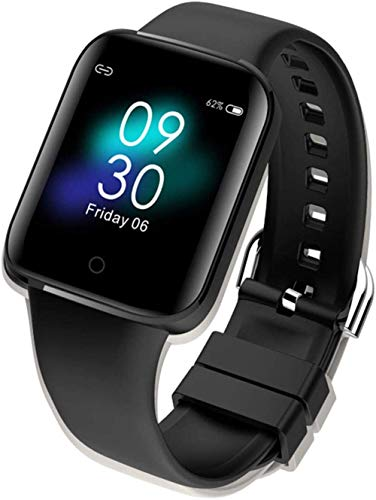 Gymqian Smart Bracelet, Can Measure Body Temperature Sleep Heart Rate Blood Oxygen and Various Exercise Data-White Daily wear/Black