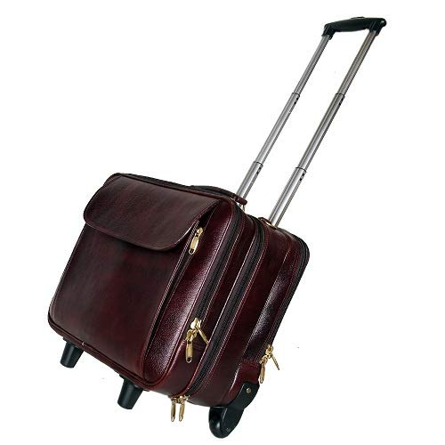 HYATT Leather Accessories Cabin Size Capacity 42 Liter's Suitcases & Trolley Bags for Men Luggage Travelling Brown