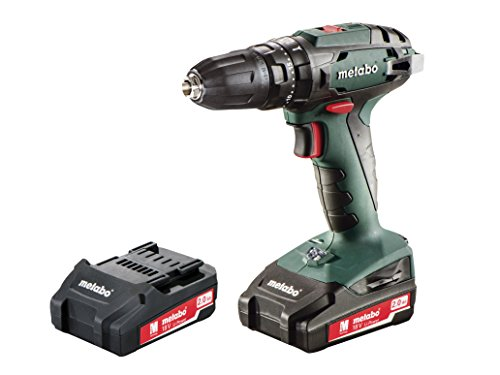 Metabo Power Tools MPTSB18P2 Combi Drill with 2 x 2 A Li-Ion Battery, 18 V, Green