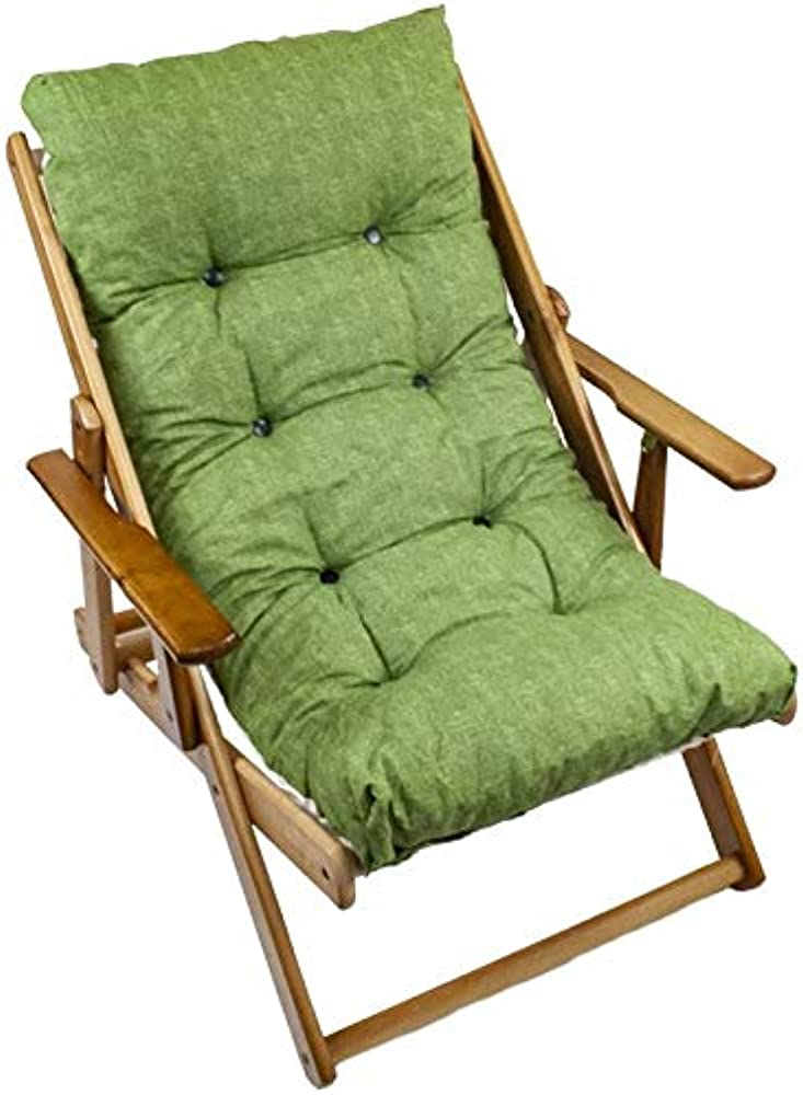 Maury`s poltrona sdraio reclinabile harmony relax comodona in legno 3 posizioni con cuscino imbottito 0432588
