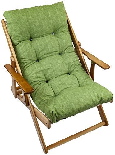 MAURY'S Poltrona Sdraio Harmony Relax Comodona in Legno 3 Posizioni con Cuscino Imbottito (Verde)