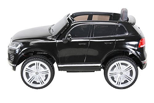 RC Auto kaufen Kinderauto Bild 2: Actionbikes Motors Kinder Elektroauto VW Touareg Kinderfahrzeug Kinder Auto Ledersitz Eva Reifen (Schwarz)*