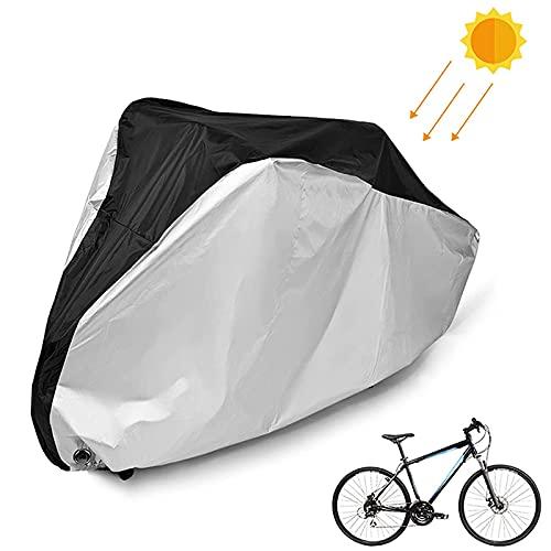 QIQIQ Funda para Bicicleta Exterior 210D de Nylon Cubierta Protector al Aire Libre para Bicicleta de Montaña Carretera Bicicleta de Ruta