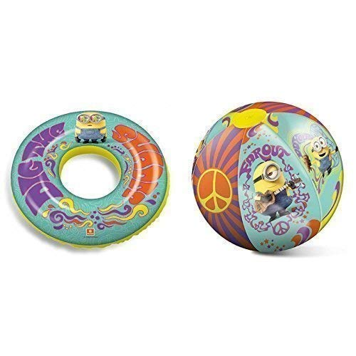 Lively Moments Schwimmring & Wasserball Minions / Minion Party Flower Power ca. 50 cm