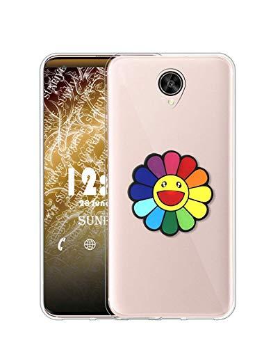 Sunrive Kompatibel mit Meizu M3 Max Hülle Silikon, Transparent Handyhülle Schutzhülle Etui 3D Hülle (A1 Blumen)+Gratis Universal Eingabestift MEHRWEG