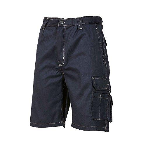 LOGICA BERMUDA86 bermuda-bermuda katoen blauw 190 g/MQ ademende tas voor GGETTI PORTELLULARE Corto anti-letsel DPI Cargo multitas waskleding