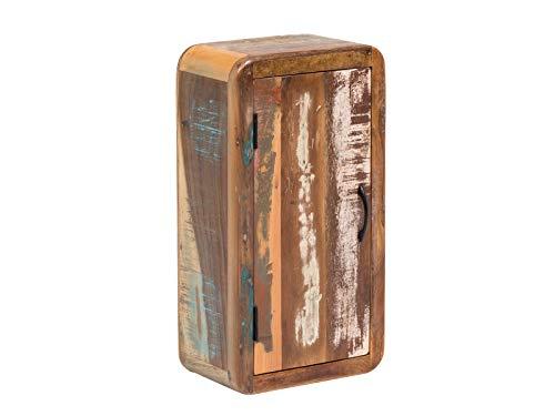 Woodkings® Bad Hängeschrank Kalkutta recyceltes Holz bunt rustikal Hängebad Badhochschrank massiv Badmöbel Massivholz Badezimmer Badezimmerschrank Wandschrank