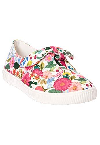 Comfortview Women's Wide Width The Anzani Sneaker - 8 1/2 WW, Gardenia Floral