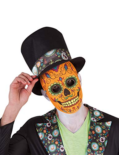 Rubies- Mascara calavera de lujo para hombre, Talla única (