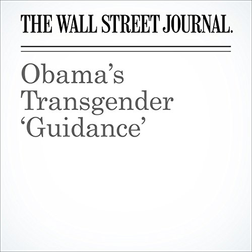 Obama's Transgender 'Guidance' audiobook cover art