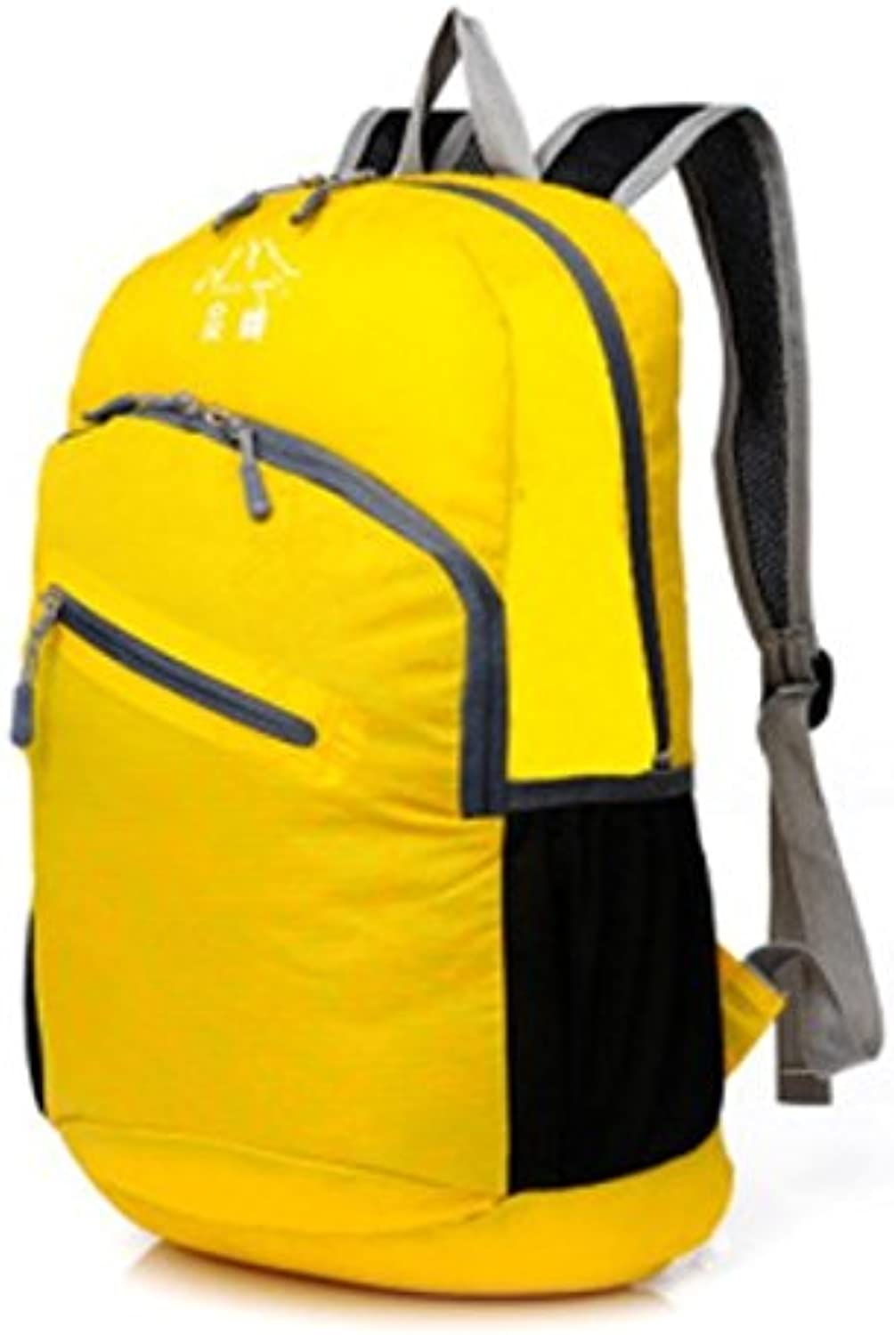 LCJ Folding camping trip lightweight package travel backpack shoulder bag , Yellow