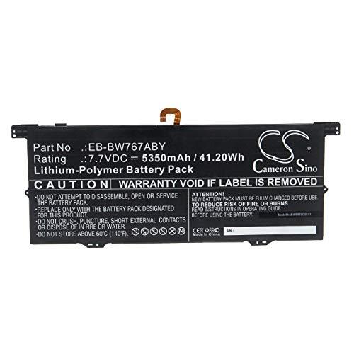 vhbw Batería Recargable reemplaza Samsung EB-BW767ABY para Notebook (5350 mAh, 7,7 V, polímero de Litio)
