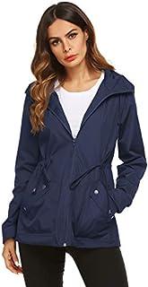 Raincoat Women Waterproof Outdoor Active Mesh Lining...