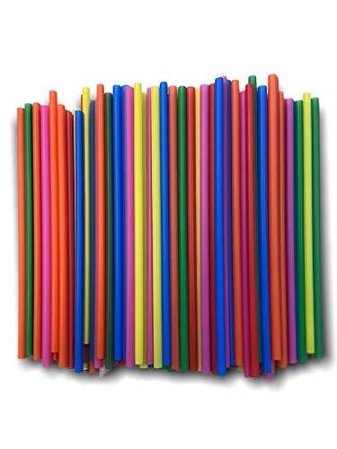ZERAY 500 Jumbo Bund Strohhalme Kunststoff.Länge.Trinkhalme Plastik. Strohhalme Plastik.strohhalm Plastik.strohhalme Plastik.Plastik strohhalme. (500)