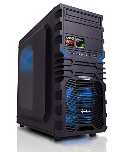 Gaming PC AMD, FX-6300 6x3.5 GHz, 16GB DDR3, 1TB HDD, GTX1080 8GB, Windows 10 (Testversion), Spiele Computer zusammengestellt in Deutschland Desktop Rechner