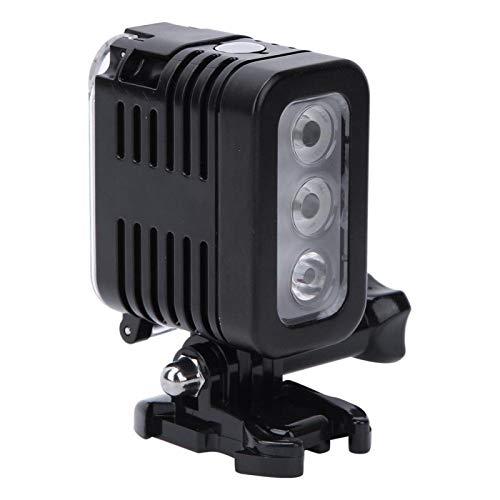 DAUERHAFT PC + Luz de Relleno de Buceo de Acero Inoxidable Lámpara de Video LED de Buceo Submarino 30m Modos de luz Diferentes, para cámaras de acción GoPro