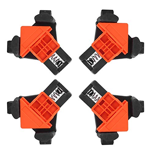 Eckclip, 4St. 90 ° rechtwinkliger Rahmen Eckklemme Clip Fixierer Linealklemme Holzbearbeitungs-Handwerkzeug