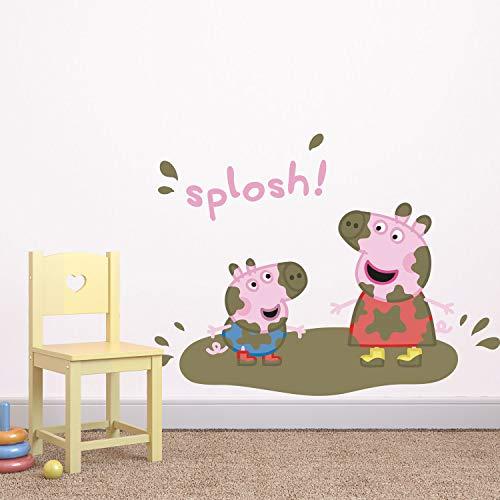 H421ld Peppa Pig and George Pig Splosh - Adhesivo decorativo para pared, diseño de Peppa Pig