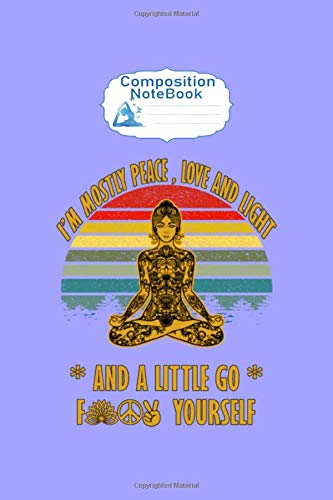 Composition Notebook: just breathe yoga spiritual asanas gift - 50 sheets, 100 pages - 6 x 9 inches
