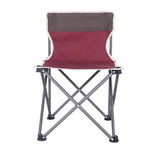 LOVEPET Sillas Plegables para Exteriores, Viaje en Carro de Pesca, fácil de Guardar portátil Silla de Playa para Acampar, 37X37X58cm