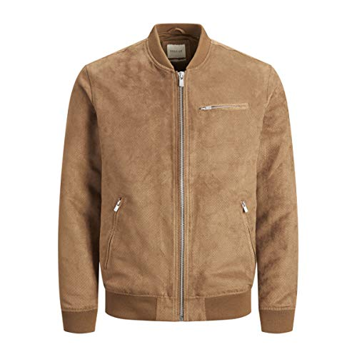 Giubbotto Jack & Jones Alessio Uomo Marrone Bomber traforato 12135720 XL