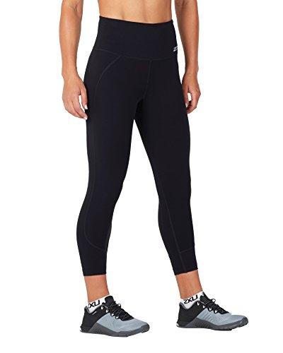 2XU Damen Fitness Hi-Rise 7/8 Kompressionsstrümpfe, Damen, schwarz / schwarz, X-Small
