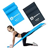 A AZURELIFE Resistance Bands Set, Professional Non-Latex Elastic Exercise Bands, 5 ft. Long Stretch...