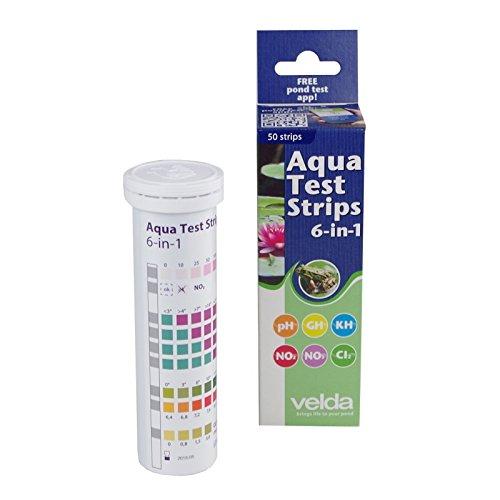 Wassertest 50Teststreifen 6in1 Aqua Test Schnelltest Aquarium Gartenteich Velda