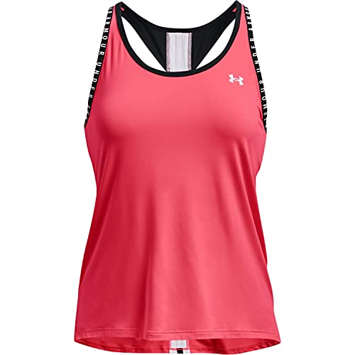 Under Armour Women's Knockout Tank Top , Brilliance (819)/White, Small