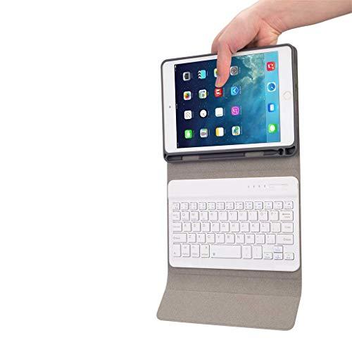LeeMon - Teclado Bluetooth para iPad Mini 5 / Mini 4 7.9 funda + teclado inalámbrico Bluetooth, Mujer, Rosa.