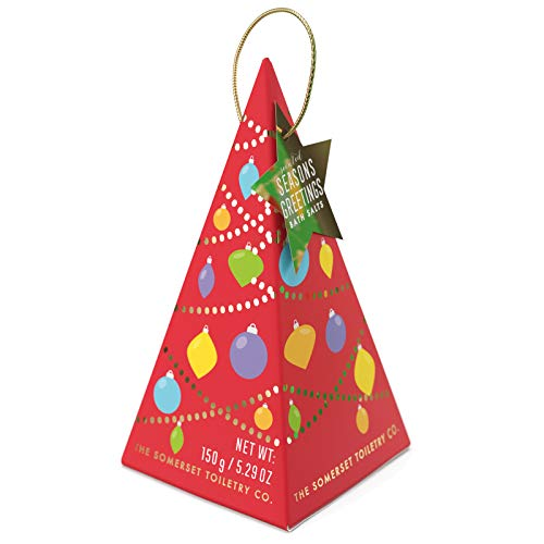 La société de toilette Somerset - Saisons parfumées Salutations Sels de bain Menthe verte et romarin rouge Sapin de Noël - 5.29 oz.