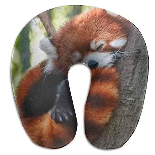 Almohada en Forma de U, Cuello, Dormir, Panda Rojo, Viaje, Almohada Multifuncional, Coche, avión