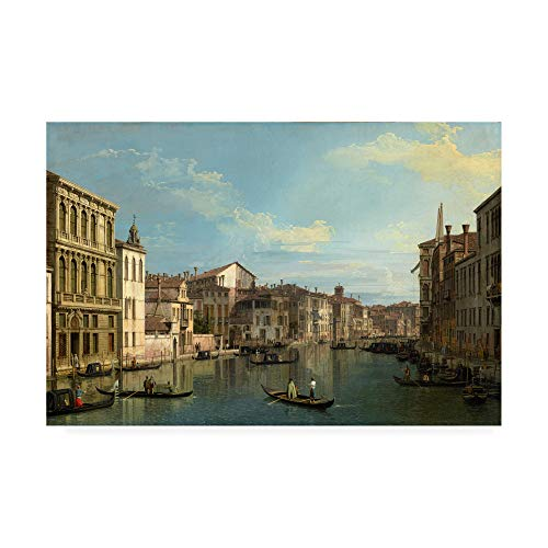 Trademark Fine Art Grand Canal in Venice by Canaletto, 30x47, Multiple