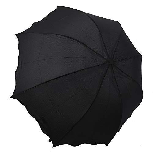 SHILILI Sonnenschirm Damen Gekräuselte Prinzessin Kuppel Sonnenschirm/Regen Taschenschirm