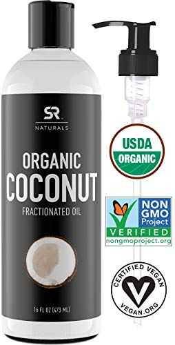 Organic Liquid Coconut Oil for Skin, Massage...