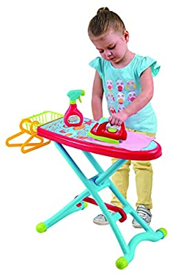 PlayGo Housework Ironing Children Kid's Toy Clothing Iron Board Playset 6Piece - Clothes Iron, Ironing Board, & Accessories, Multicolor (3380) by Midos Toys Distributor