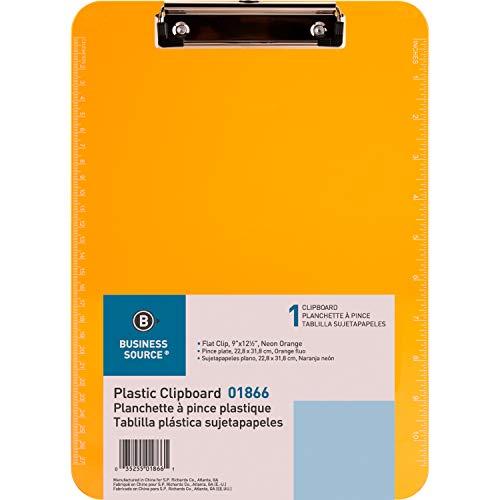 Business Source Transparent Plastic Clipboard